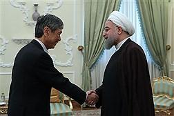 دیدار فرستاده ویژه نخست وزیر ژاپن با دکتر روحانی