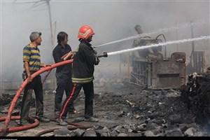 جزییات آتش سوزی در حاشیه بازار تبریز