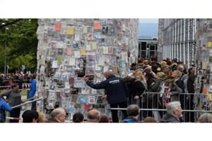 پارتنونِ  از کتاب «در نمایشگاه دوکومنتا آلمان»  تخریب میشود