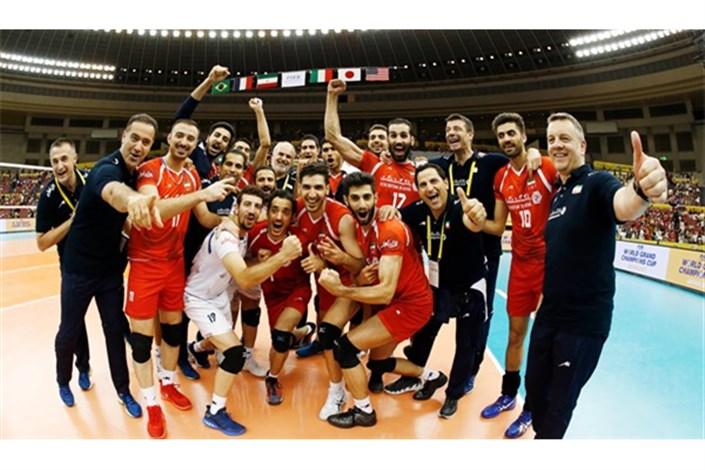 نتیجه تصویری برای والیبال جام قهرمانان بزرگ؛ ایران طلسم فرانسه را شکست و روی سکوی سوم ایستاد