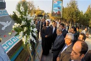 ادای احترام لاریجانی به مقام شامخ شهدای آذربایجان غربی