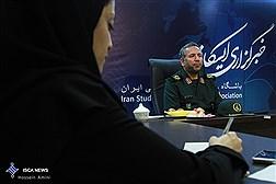 """حضور سردار عسگری """"جانشین معاونت حقوقی وزارت دفاع"""" در ایسکانیوز"""