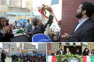 نواخته شدن زنگ مدرسه توسط شهردار منطقه 13 در جشن شکوفه ها و غنچه ها