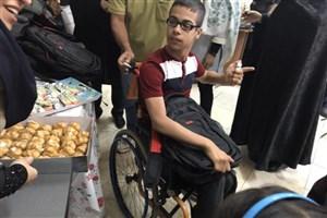 اهدای لوازم التحریر به دانش آموزان معلول در آستانه سال تحصیلی جدید