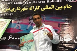 Ilkhchi IAU karateka Shines in Tabriz Int'l Karate C'ships