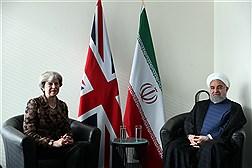 دیدار دکتر روحانی با نخست وزیر انگلیس