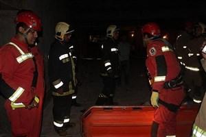 نشت گاز وانفجار شدید در ساختمان مسکونی