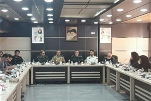برگزاری نشست خبری و مطبوعاتی فرماندهان نظامی و انتظامی استان قزوین