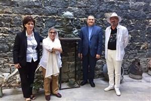 دیدار علیرضا تابش با دبیر جشنواره زردآلوى طلایى ارمنستان