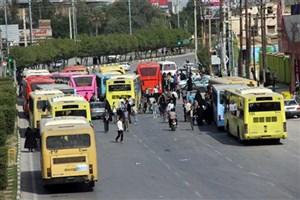 خدمترسانی اتوبوسرانی در مراسم تشییع پیکر شهید حججی