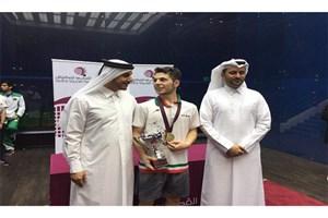 علیرضا شاملی به مدال طلا مسابقات اسکواش قطر رسید
