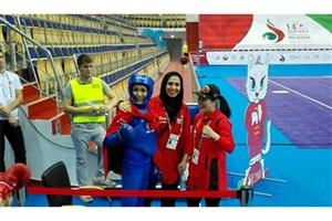 درخشش مدال طلای کازان دور گردن الهه منصوریان