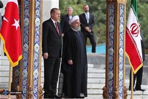 مراسم رسمی استقبال از روحانی در آنکارا برگزار شد