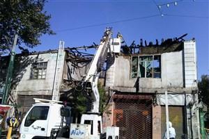 یک  مجتمع مسکونی  در شهر ری آتش گرفت/نجات ۵۰ نفر از میان شعله ها