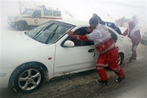 امداد رسانی هلال احمر به ۵۳۸ نفر گرفتار برف در چهارمحال و بختیاری