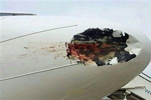 آخرین جزئیات از برخورد خودرو با هواپیما در فرودگاه اهواز