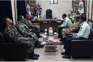 دیدار فرمانده تیپ 188 نزاجا با فرماندهان انتظامی سیستان و بلوچستان