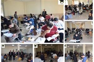 برگزاری  آزمون ورود به حرفه مهندسان  در دانشگاه آزاد اسلامی خوی / تصاویر