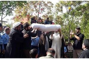 تشییع پیکر شهدای گمنام در  شهرک مسکونی شهید صادقی نیروی هوایی