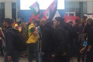 تجمع دانشجویان حامی فلسطین در روسیه+ تصاویر