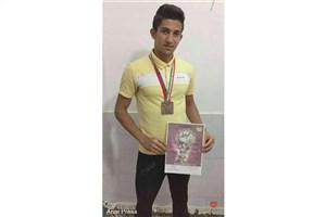 موفقیت دانشجوی دانشگاه آزاد اسلامی واحد انار در مسابقات قهرمانی سینه پرس