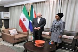 دیدار ظریف با وزیر همکاری های بین المللی آفریقای جنوبی