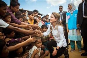 دیدار ملکه اردن با مسلمانان روهینگیا