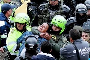 بازداشت تاکسیران های معترض در بوگوتا