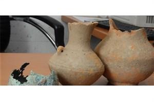 کشف اشیای تاریخی با قدمت هزاره دوم قبل از میلاد