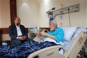 عیادت رئیس سازمان سینمایی از جمشید مشایخی