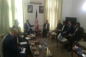 قائم مقام وزارت خارجه سوریه با جابری انصاری دیدار و گفتگو کرد