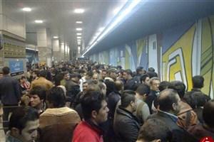 دلیل شلوغی مترو دروازه دولت چه  بود؟