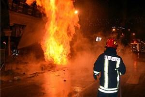 مهار شدن آتشسوزی انبار شرکت دخانیات در خیابان قزوین/حادثه مصدوم نداشت
