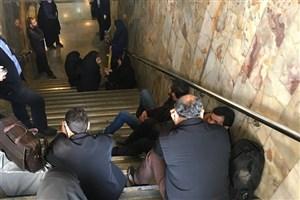 سرگردانی و حبس شهروندان و اهالی رسانه در متروی مصلی