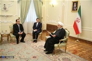 روحانی: اراده بر توسعه روابط میان تهران و کلمبو است