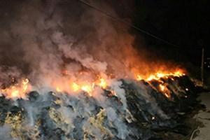 مهار آتشسوزی انبار علوفه روشن دشت