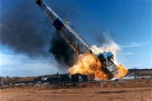 دکل نفتی در گچساران آتش گرفت