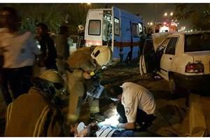 حادثه  تصادف  در بزرگراه شهید کاظمی/ ۴ نفر مصدوم شدند
