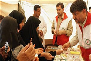 مرکز درمانی و پزشکی هلال احمر در موکب حضرت معصومه(س) فعال شد