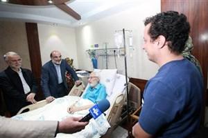 عیادت رییس رسانه ملی از جمشید مشایخی