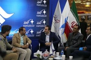 بازدید مدیران ارتباطات گروه خودروسازی ایران خودرو از غرفه ایسکانیوز
