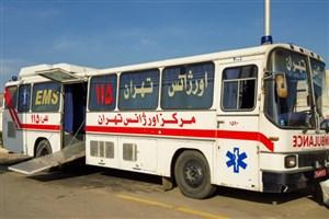 خدمات رایگان اتوبوس آمبولانس اورژانس تهران به مناسبت دهه فجر