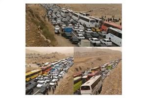 در محور ایلام –- مهران ترافیک سنگین است/ تردد ۳ هزار دستگاه اتوبوس  در ۲۴ ساعت گذشته