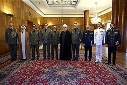 دیدار فرماندهان ارشد ارتش با رییس جمهوری