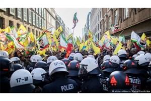 درگیری پلیس آلمان با هواداران پ.ک.ک در دوسلدورف