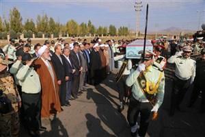 پیکر مطهر شهید حسین فلاح در قزوین تشییع شد