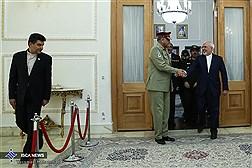 دیدار ژنرال قمر جاوید باجوا، فرمانده کل ارتش پاکستان با دکتر ظریف