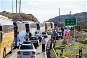ترافیک سنگین در مسیر بازگشت از مرزهای مهران، چذابه و شلمچه