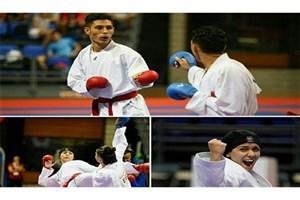 3 ملی پوش جوانان و امید کاراته در صدر رنکینگ فدراسیون جهانی