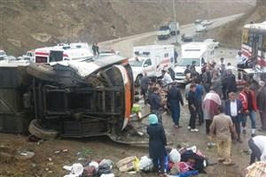 علت حادثه اخیر سقوط اتوبوس مشخص شد/ نظریه اولیه: خرابی ترمز و جعبه دنده